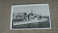 H.M.S. Phoebe, Grand Harbour, Malta Real Photo Postcard