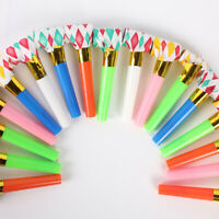 10X NEW PARTY BLOWERS .BLOWOUTS BIRTHDAY LOOT BAG FILLER D FOIL l NOISE TOY Hot