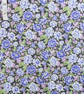 Shades of Lavender Floral,Black Cotton Quilting Fabric,Crafts,Robert Kaufman