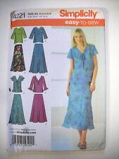 Ruffle hem skirt top shirt dressy dress pattern 4221 size 10 12 14 16 18  uncut
