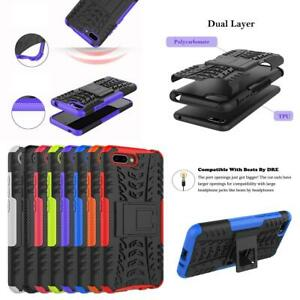For Huawei Honor 7s 8s Black Shockproof Armour Phone Case Cover + Screen Guard