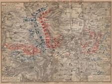 Guerre franco-prussienne. bataille de mars-la-tour borny-colombey 1870 metz 1903 carte