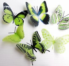 100 Pack Butterflies - Limegreen - 5 to 6 cm - Cakes, Weddings, Crafts, Cards,