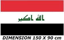 DRAPEAU 150 X 90 cm IRAK IRAQ IRAKIEN IRAQUIEN FLAG No fanion écharpe maillot ..