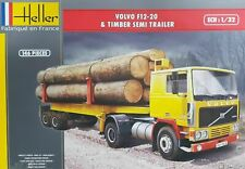 Heller 1/32 Volvo F12-20 & Timber Semi-Trailer # 81704
