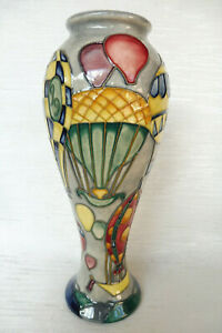 "Tall Moorcroft Millenium Pattern ""Balloons"" Vase Designed by J. McDougall C1998"