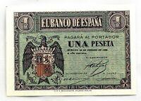 Spain- Guerra Civil. Billete. II AÑO TRIUNFAL. 1 Peseta. 1938. Burgos. SC/UNC.