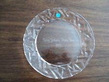 "Tiffany rock cut salad dessert plate 8"" Spring Gathering horse Show 2001"