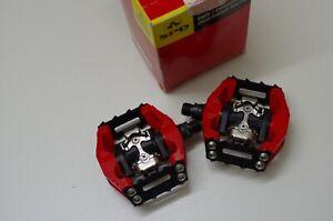 Shimano DX PD M636 Red SPD Pedal - BMX Downhill NOS