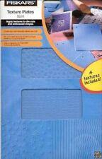 Fiskars 5651 Texture Plates Spirit Emboss Designs Hearts Stars Waves Lines