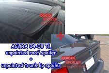 trunk lip spoiler◎ Matte Black 2004~2008 ACURA TL Sedan roof spoiler
