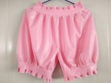 Latex Rubber Pink Lace Stylish Short Pants Size available XS- XXL