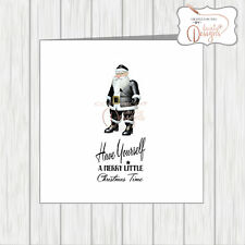 LGBT Gay Pride Lesbian Christmas Card Fetish Kinky Santa With Whip Maledom Rude