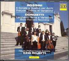 ROSSINI - 6 String Sonatas / DONIZETTI - Theme & Variations - Ezio ROJATTI  2CDs
