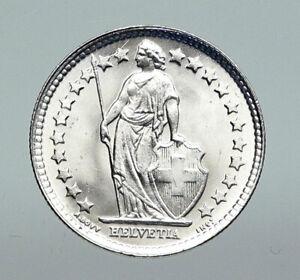 1934B SWITZERLAND HELVETIA Symbolizes SWISS Nation SILVER 1/2 Francs Coin i91281