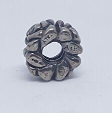 Charms Amore&Baci in argento brunito 925 compatibili pandora