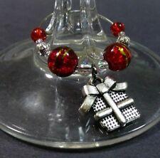 CHRISTMAS WINE GLASS CHARM, BUY 6 GET 1 FREE CHRISTMAS STOCKING, KRIS KRINGLE