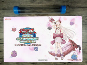 2020 YuGiOh Red Blossoms from Underroot Custom Playmat TCG Mat Free Best Tube