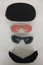 Briko Black Zip-Closed Sunglasses Case w/Gray & Rose Lenses Fast Shipping LOOK