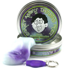 "Mystic Glacier UV React Phantoms Crazy Aaron's Thinking Putty Lge 4"" tin 3.2oz"