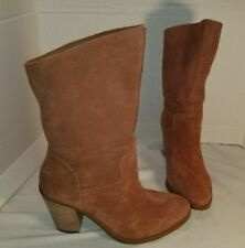 NEW LUCKY BRAND BROWN SUEDE EMBREIGH SLOUCH BOOTS WOMAN'S SIZE 9.5 39.5