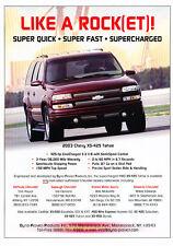 2003 Chevrolet Tahoe XS-425 Supercharge Original Car Advertisement Print Ad J219