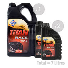 Car Engine Oil Service Kit / Pack 7 LITRES Fuchs Titan Race Pro S 10W-60 7L