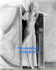 "JEAN HARLOW 8X10 Lab Photo B&W 1930s ""IRVING CHIDNOFF"" SEXY SILHOUETTE PORTRAIT"
