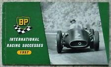 BP INTERNATIONAL RACING SUCCESSES 1957 Motor Sport Booklet F1 Mille Miglia RALLY