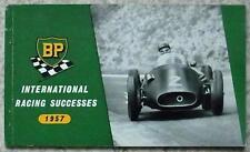 BP INTERNATIONAL RACING SUCCESSES 1957 Motor Sport Booklet F1 Mille Miglia RALLY