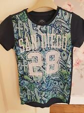 Boys Navy NEXT tshirt mesh style front Age 7