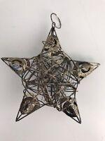 Sigel ZB453 Weihnachts-Stern aus Metall, kaffeebraun, Rattan, 15 cm hoch LS3