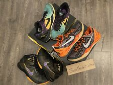 Nike Kobe 8 Easter BHM Lakers Hyperdunk USED Basketball Size 10.5 11 (3 Pairs)