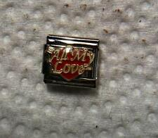 """ALL MY LOVE "" 9MM ITALIAN CHARM, FAMILY, HUSBAND, WIFE, MOTHER, FATHER"