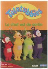 TELETUBBIES ... LE CHAT EST DE SORTIE / PO DORT / FABRIQUONS DES FLEURS ...