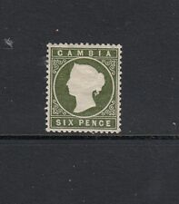 GAMBIA: 1886-91, Wmk Crown/ CA QV 6d Yellowish Olive-green Cameo SG 32, MLH.
