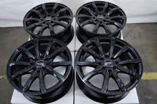 "16"" Wheels Integra Cobalt Escort Accord Civic Prelude Miata Black Rims 4x100"
