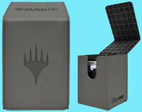 ULTRA PRO MTG MATTE GREY ALCOVE PLANESWALKER FLIP DECK BOX Card Storage Case