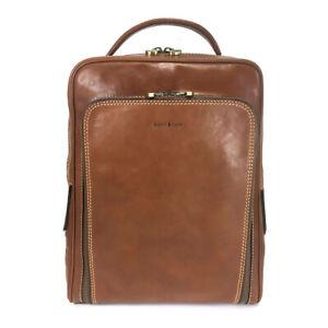 Gianni Conti Smart Leather Rucksack - Style: 912152- Tan BNWT