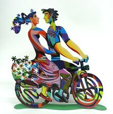 David Gerstein Pop Art Spring Ride bike Modern Art Bicycle Riders in love