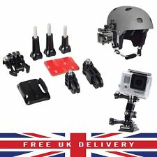 Ajuste de Kit de montaje casco lado curvado adhesivo para GoPro Hero 1 2 3 3+ 4 Reino Unido