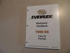 Werkstatthandbuch Evinrude 5 6 8 9.9 15 PS 4-Takter  Außenborder Modelljahr 1999