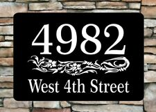 "Personalized Home Address Sign Aluminum 12"" x 8"" Custom House Number Plaque sq13"