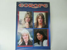 Europe Japan Promo Poster by Victor Japan in 80's Joey Tempest