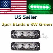 2X18W CREE Bulb 6LEDS Green Car Flash Emergency Hazard Warning Strobe Light Bar