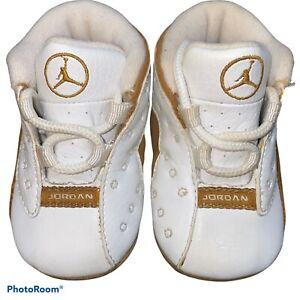 Nike Jordan Retro 13 Wheat (CB) Crib White Tan 309263-171 Size 2c 2004 Vintage