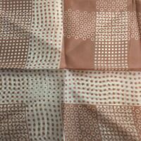 """Womens MCM Vintage Scarf Rolled Hem Tan White Geometric Abstract 27"""" Square"""