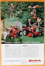 Vintage Magazine Print Ad 1967 Simplicity Tractor mower