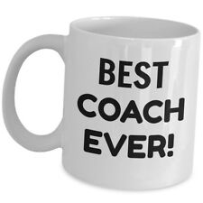 Best Coach Ever Coffee Mug Sport Head Mentor Trainer Cup Appreciation Cup Gift