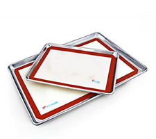 Silicone Pastry Bakeware Baking Tray Oven Rolling Kitchen Cake Liner 40x60cm AU